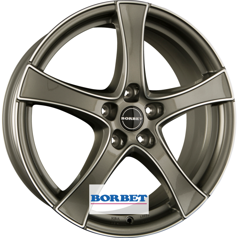 BORBET F2 graphite polished