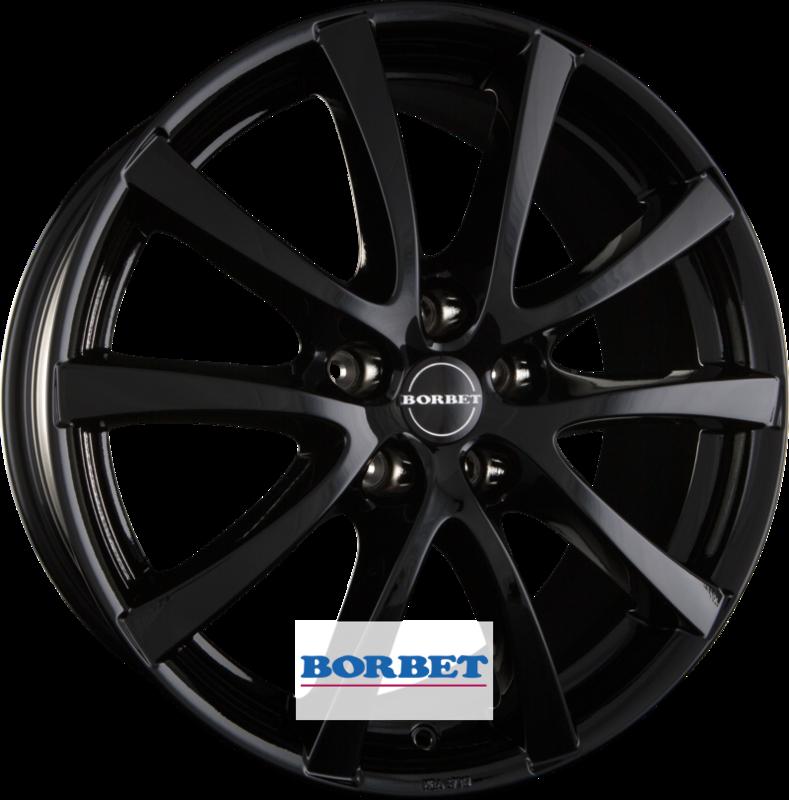 BORBET LV5 black glossy