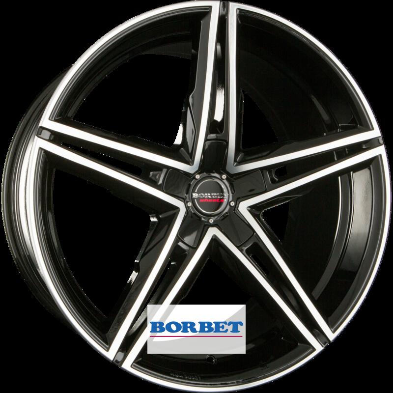 BORBET XRS black polished glossy
